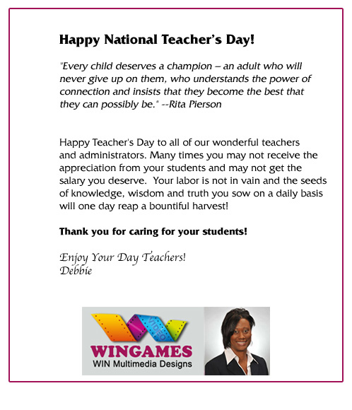 Teacher Day Letter